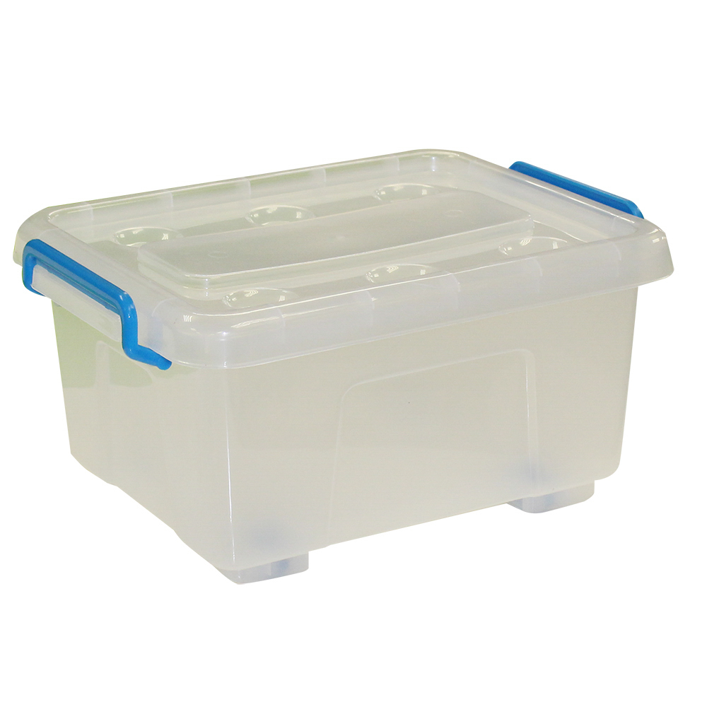 12l Plastic Storage Box With Wheels Bonningtons