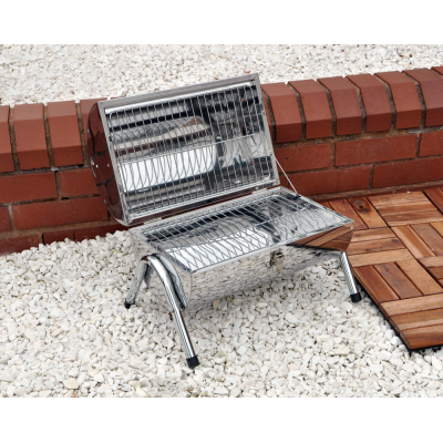 Portable Barrel Stainless Steel BBQ