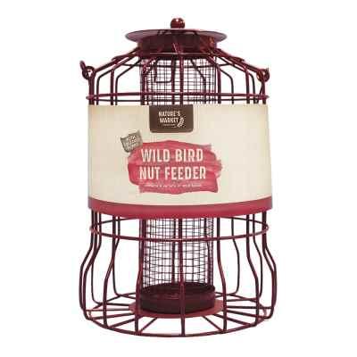 Nut feeder with squirrel guard