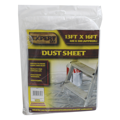 4 x 5m Multipurpose Polythene Dust Sheet