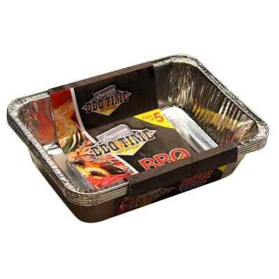 5 Pack of BBQ Trays In a Display