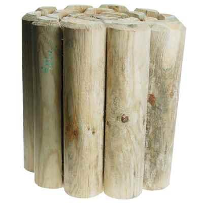 30cm (12in) Log Roll Garden Edging
