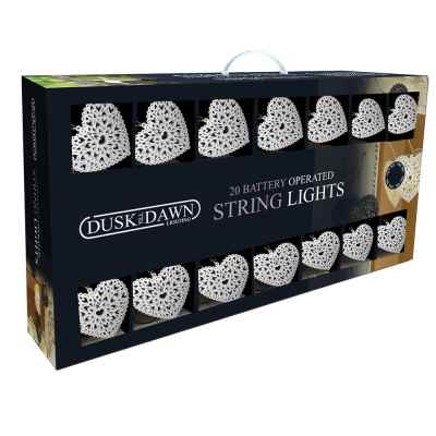 20 Metal Heart Battery Powered String lights