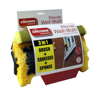 3m Telescopic Wash Brush Wiper Squeegee Set