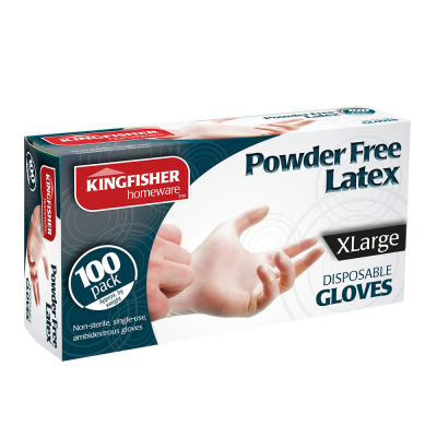 100 Pk Powder Free Latex Gloves XL