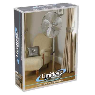 16 Inch Chrome Pedestal Fan