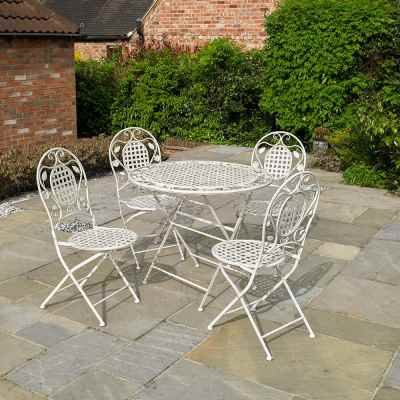 5 Piece Cream Vintage Dining Set