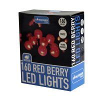 160 Red Berry LED Christmas Lights