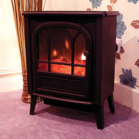 Black Free-Standing Stove