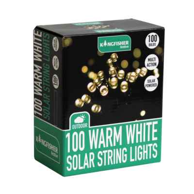 100 Warm White Multi Action Solar Led Lights