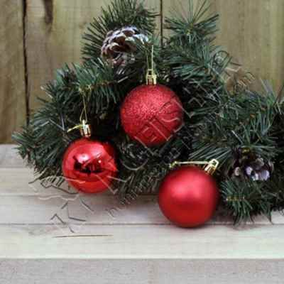 12 pack 6cm Red Bauble