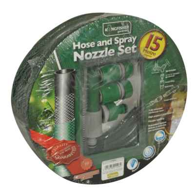 15m Hose and Spray Nozzle Set