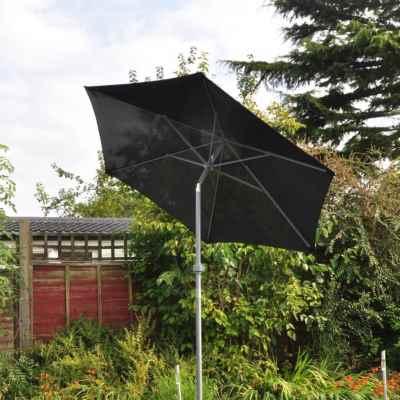 2m Black Aluminium Parasol