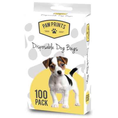 Pack of 100 Disposable Doggy Poop Bags