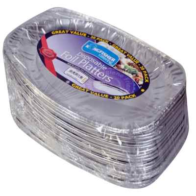 20 Pack of 17inch Disposable Foil Platters