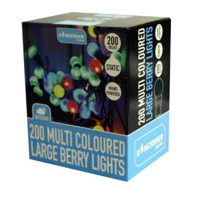 200 Multi Coloured Large Berry String Lights