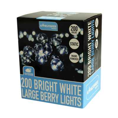 200 Bright White Large Berry String Lights