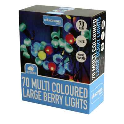 70 Multi Coloured Large Berry String Lights