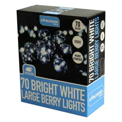 70 Bright White Large Berry String Lights