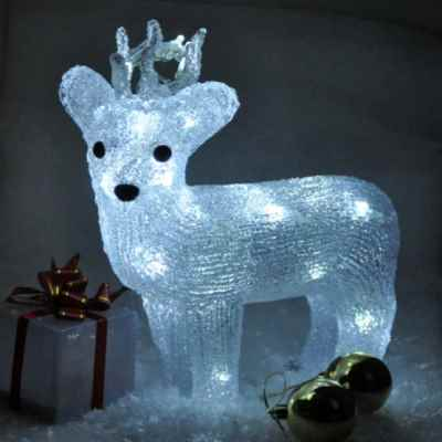 Battery Operated Crystal Effect Reindeer Light