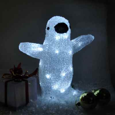 Battery Operated Crystal Effect Penguin Light
