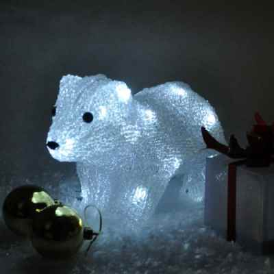 Battery Operated Crystal Effect Polar Bear Light