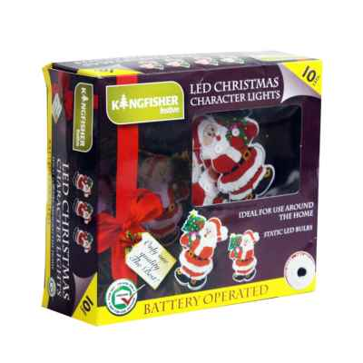 10 Christmas Character Battery Operated LED Lights