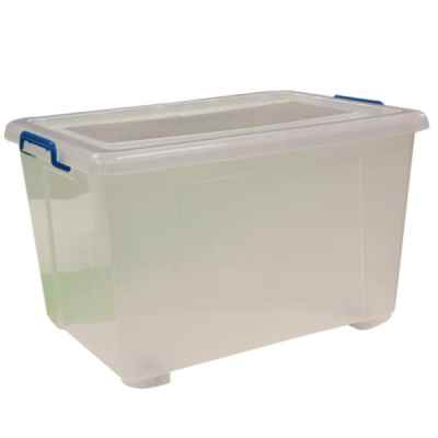 90L Plastic Storage Box With Wheels