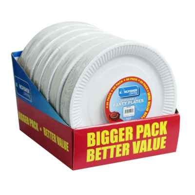 80 Pack of 9 inch Paper Plates