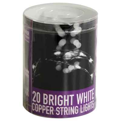 20 LED Bright White Copper String Lights