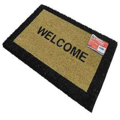 Welcome Coir Rectangular Door Mat 40x60cm