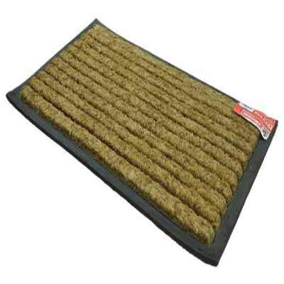 Striped Coir and Rubber Door Mat 40x70cm