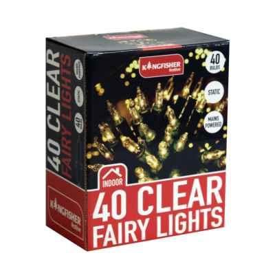 40 Clear Fairy Lights