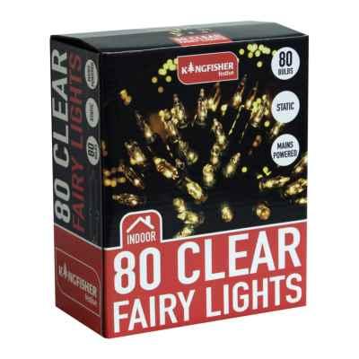80 Clear Christmas Fairy Lights