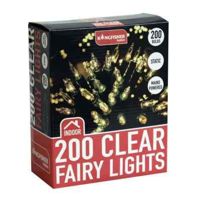 200 Clear Christmas Fairy Lights