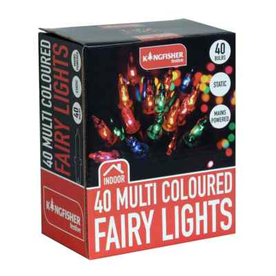 40 Multi Coloured Fairy Lights