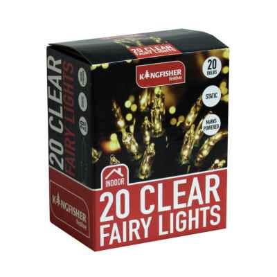 20 Clear Christmas Fairy Lights