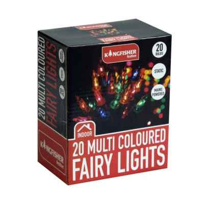 20 Multi Coloured Christmas Fairy Lights