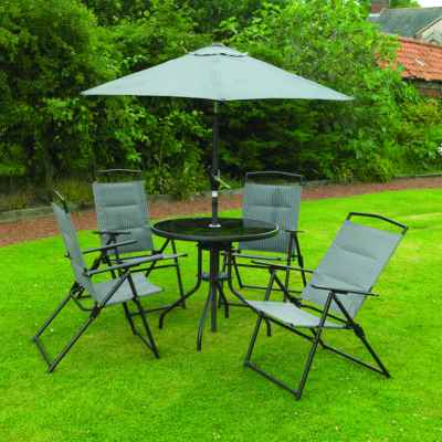 6 Piece Grey Padded Furniture Set