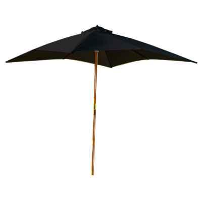 3m x 3m Wooden Parasol Black