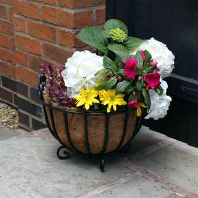 16 Inch Single Standing Planter with Coco Liner