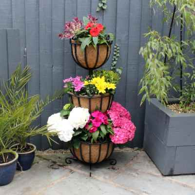 3 Tiered Standing Planter with Coco Liner