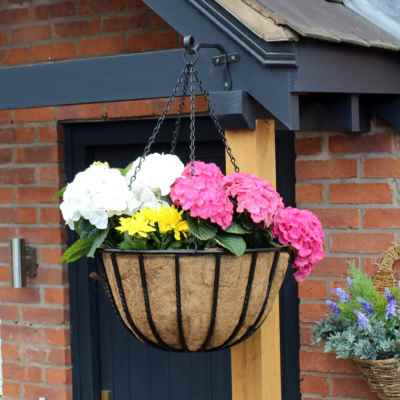 18 Inch Square Hanging Basket with Coco Liner