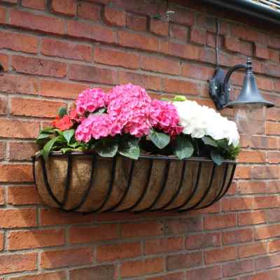36 Inch Square Wall Trough with Coco Liner