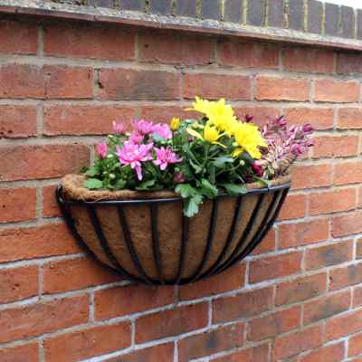 24 Inch Wall Planter with Coco Liner