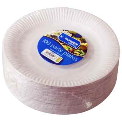 100 Pack of 9 inch White Party Disposable Plates