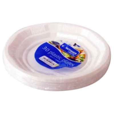 20 Pack 7 inch White Plastic Disposable Plates