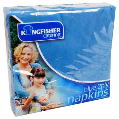 20 Pack 40x40cm 2 Ply Blue Napkin