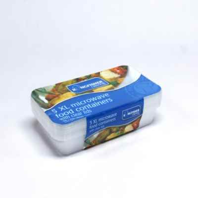 5 Pack of 1350ml Food Containers