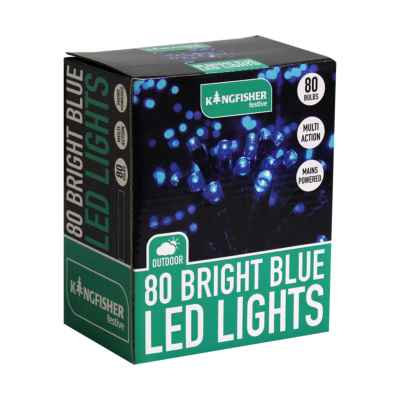 80 Blue Multi Action LED Christmas Lights